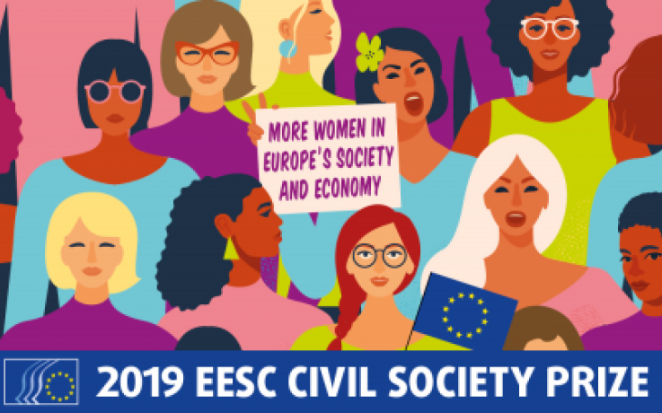 The EESC dedicates its flagship Civil Society Prize in 2019 to the empowerment of women and the fight for gender equality