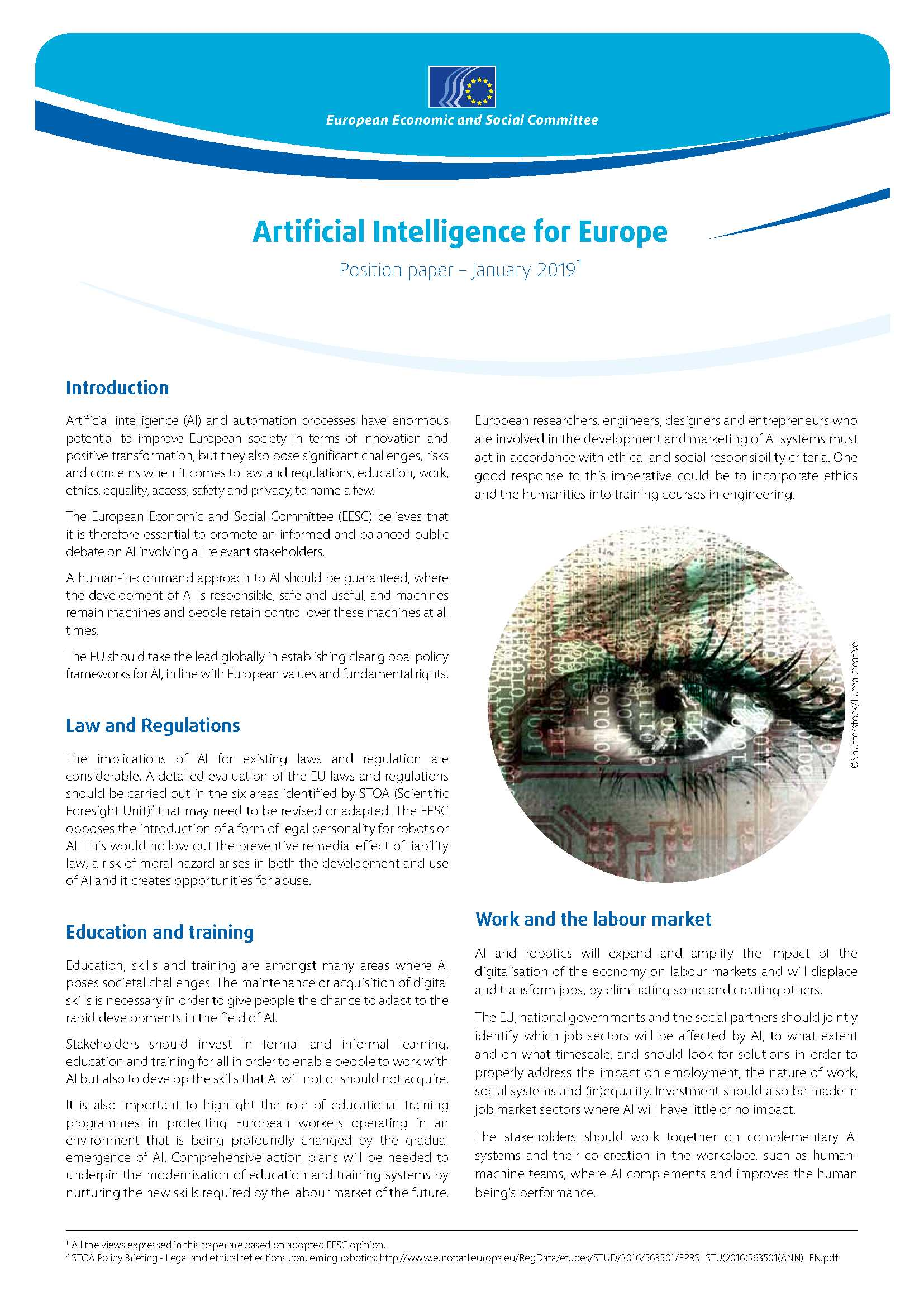 Artificial Intelligence for Europe   European Economic and