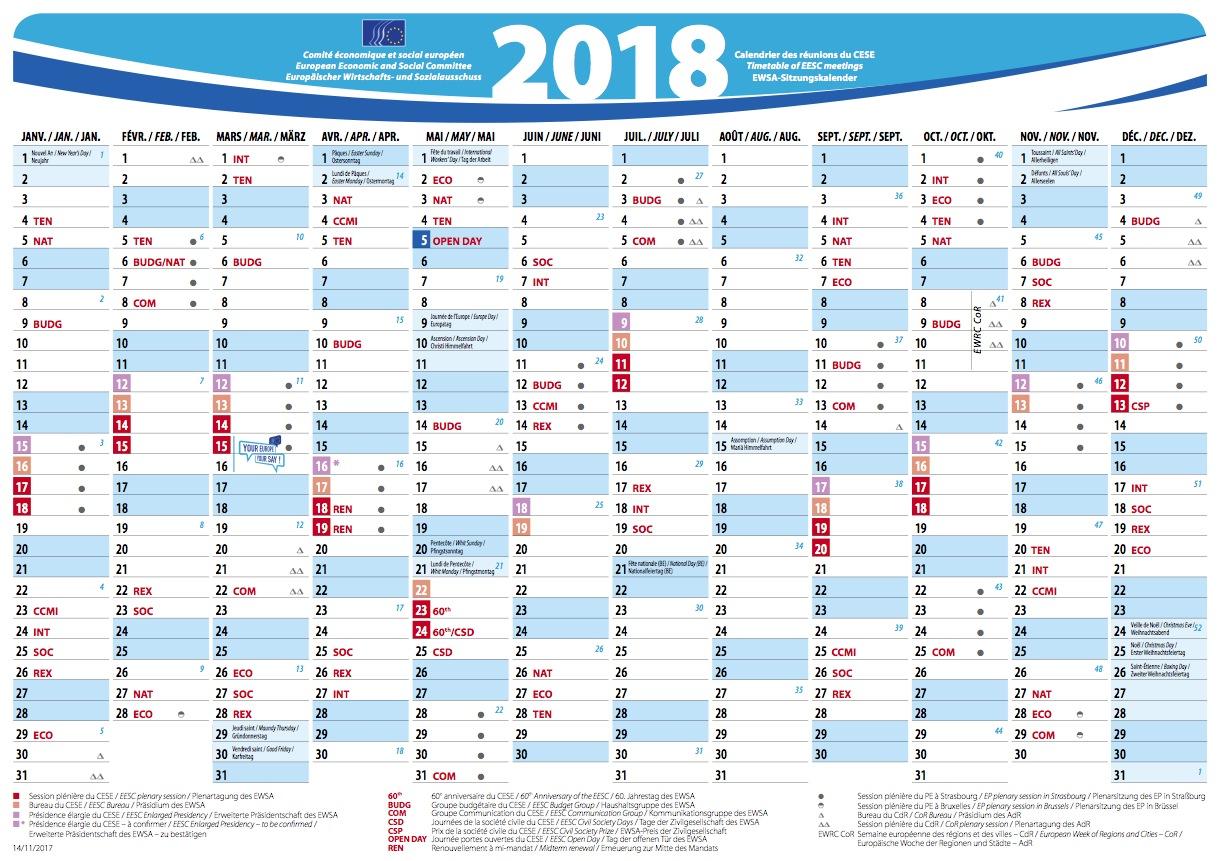Year Up Calendar : Eesc meetings calendar european economic and social