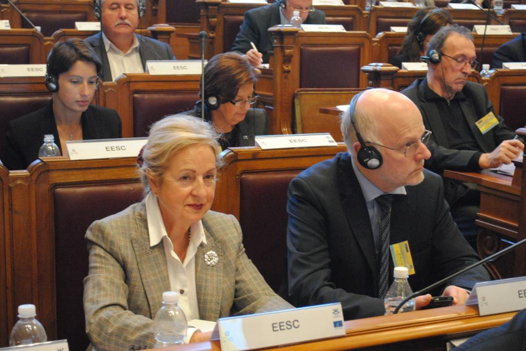 EESC Members and President Staffan Nilsson (at the right)