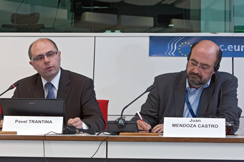 Pavel Trantina and Juan Mendoza Castro, EESC Members
