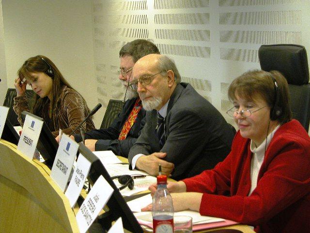 From left to right: Ms. Véronique Chappelart, Mr. Daniel Retureau, Mr. Jorge Pegado Liz, Mrs. Päivi Koivuniemi