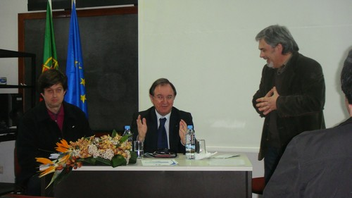 Mr. Pereira Martins, member of the EESC, visits the Escola Secundária Maximinos, Braga, Portugal