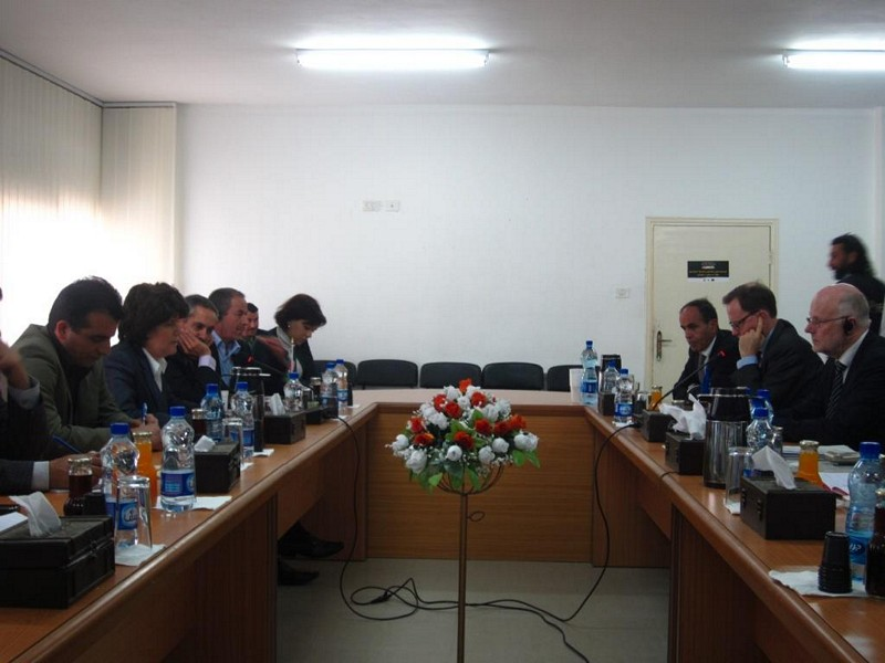 Photo 09 : 30.11. Meeting with Ms Al Masri, Palestinian Minister of Social Affairs