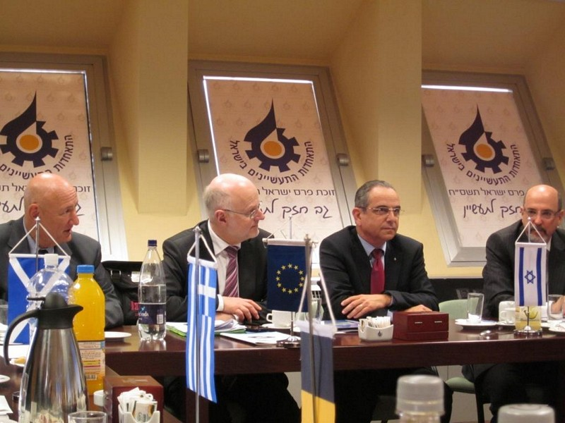 Photo 02 : 28.11. Meeting with Mr Brosh, President of the Manufacturers Association of Israel
