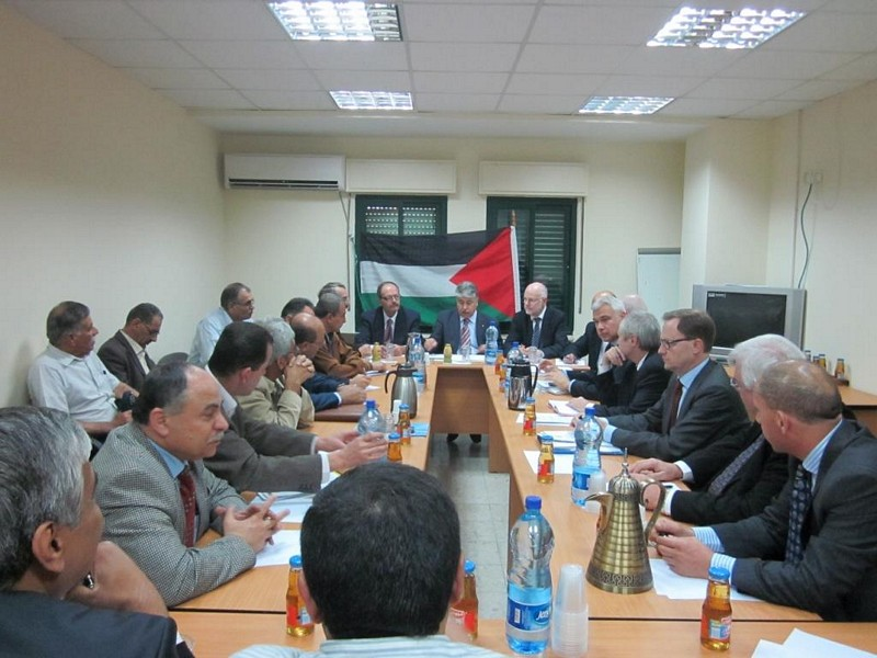 Photo 10 : 30.11. Meeting with Mr Majdalani, Palestinian Minister of Labour with Palestinian tripartite Committee
