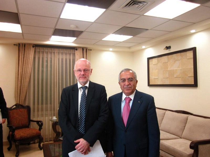 Photo 08 : 30.11. Mr Nilsson (Pres. EESC), Mr Fayyad (Palestinian Prime Minister)