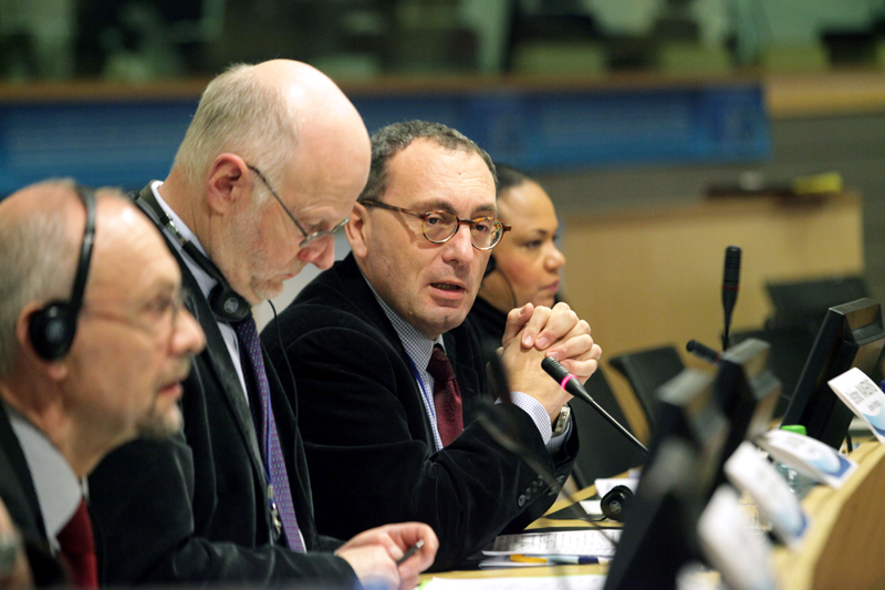 Photo 03 : Stefano Manservisi, Director-General of DG Home Affairs, in the panel