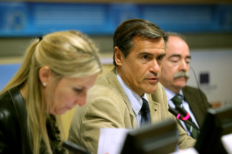 Photo 13 : Juan Fernando López Aguilar, President of the Civil Liberties, Justice and Home Affairs Committee (LIBE) of the European Parliament, in the closing session