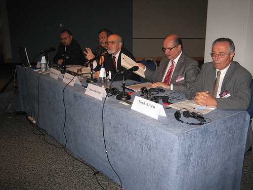 From left to right: Mr M. Xerri, Mr E. M. Iozia, Mr J. Pegado Liz, Mr S. Portelli and Mr N. Bartolo