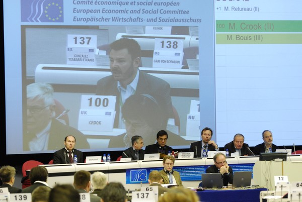 Panel of the 452nd EESC plenary session