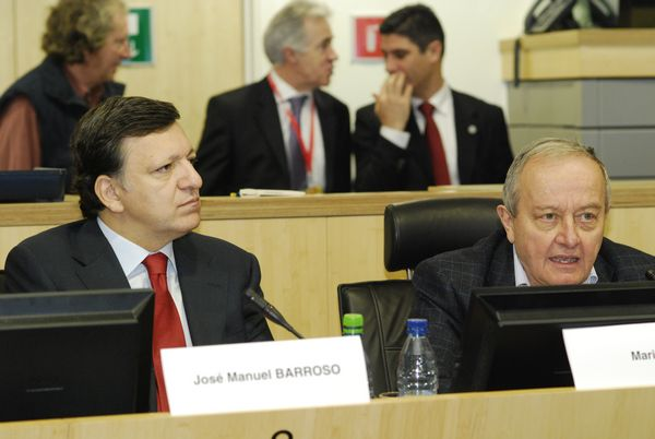 President of the European Commission José Manuel Barroso and EESC President Mario Sepi