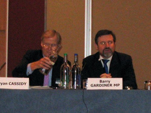 Brian Cassidy and Barry Gardiner