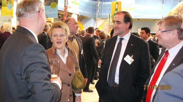 Mr Kienle EESC Member, Ms Künast German Parlamentarian, Mr Reale EESC Member, Mr Kallio EESC Vice-President