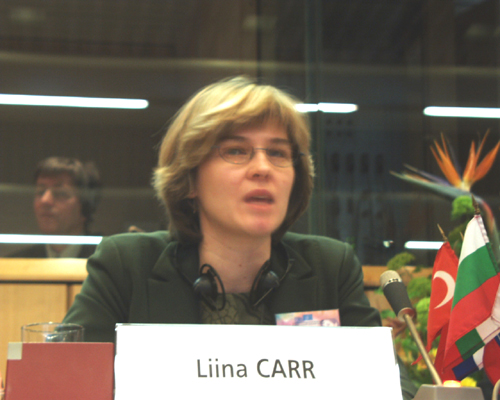 Mme Liina CARR, EU Co-ordinator, Confederation of Estonian Trade Unions (EAKL)