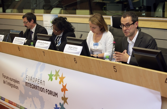 11. Sergio Carrera, expert from the Centre for European Policy Studies, at the panel