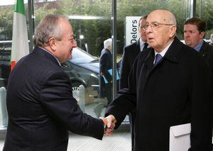 Mario Sepi and Giorgio Napoliano