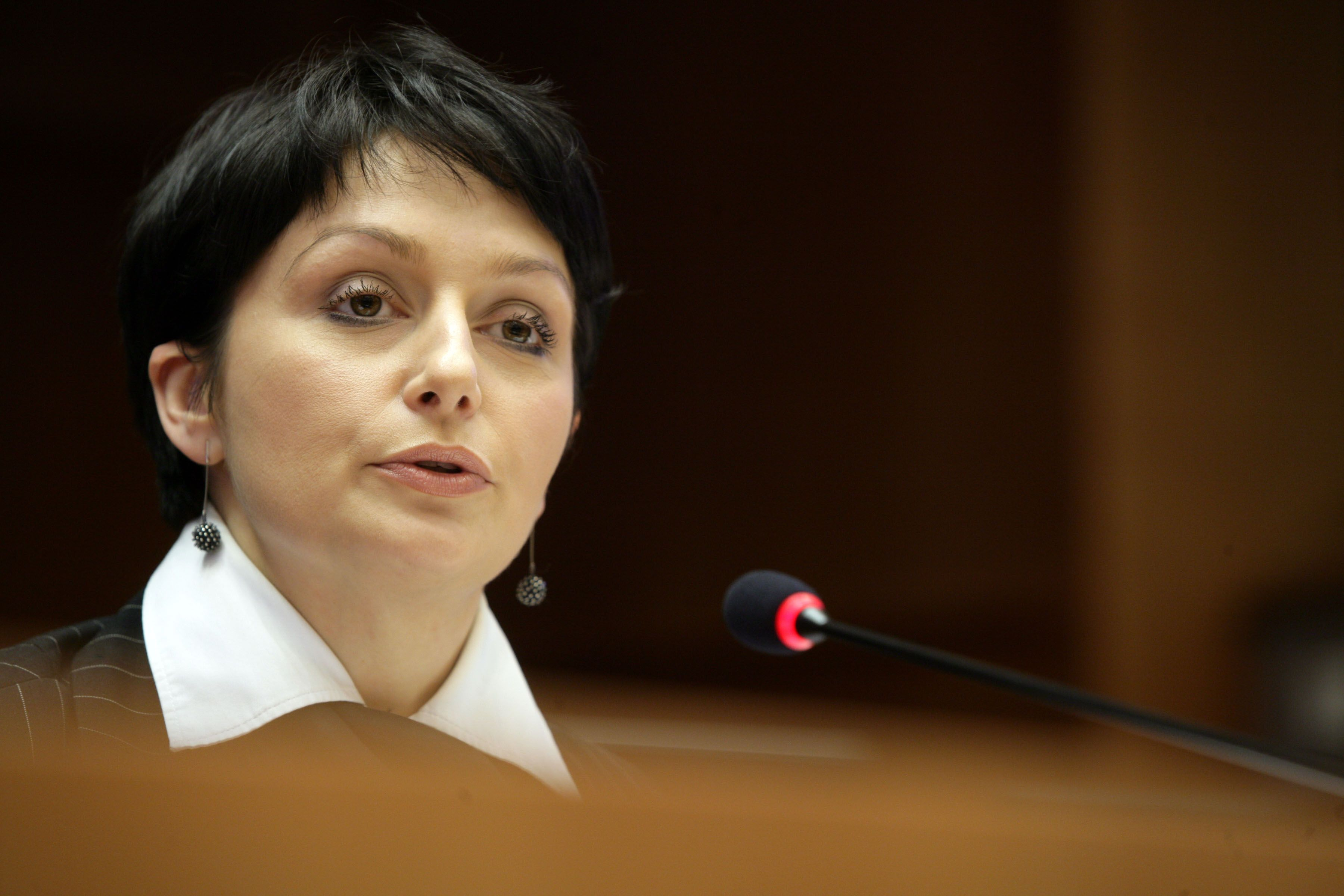 Anna Potocka, Vice President of the Business Centre Club, Poland, speaking to the EESC plenary assembly