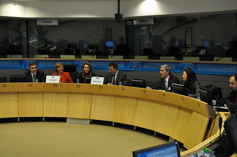 Visit of the Members of the Greek Parliament, received by the EESC Vice-President, Mrs Irini Pari