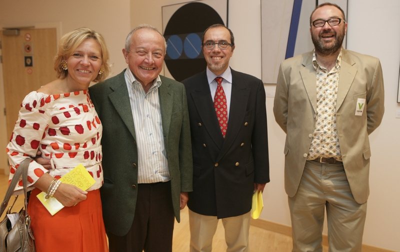 Mario Sepi, President of the EESC and Irini Pari, Vice-President of the EESC with Etienne Boumans and Serge Birenbaum, Conseiller, Cabinet Mrs. Laanan – Minister of Culture, Audiovisual, Health and Equal opportunities for the French-Speaking Community ...