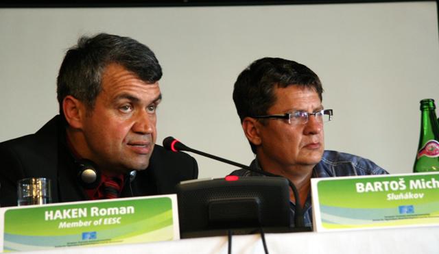 r. Haken, EESC member, and Mr. Michal Bartos, from Slunako