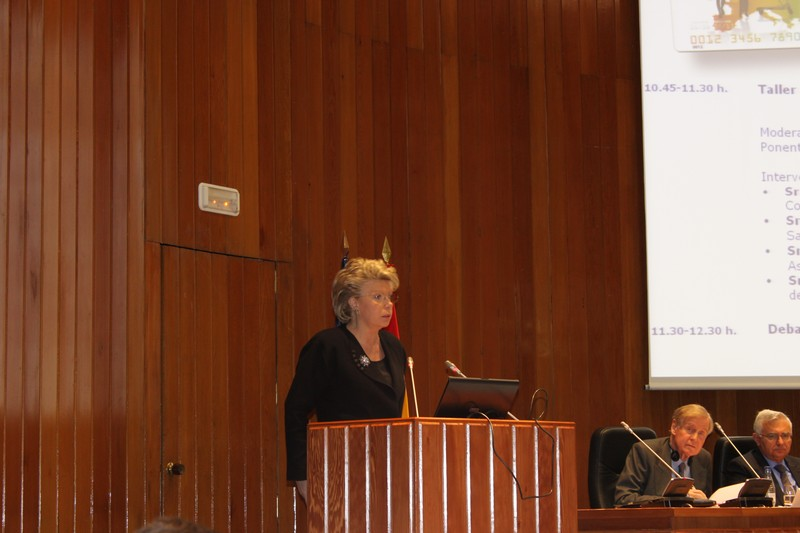 Viviane Reding speaking at the European Consumersday 2010, Madrid