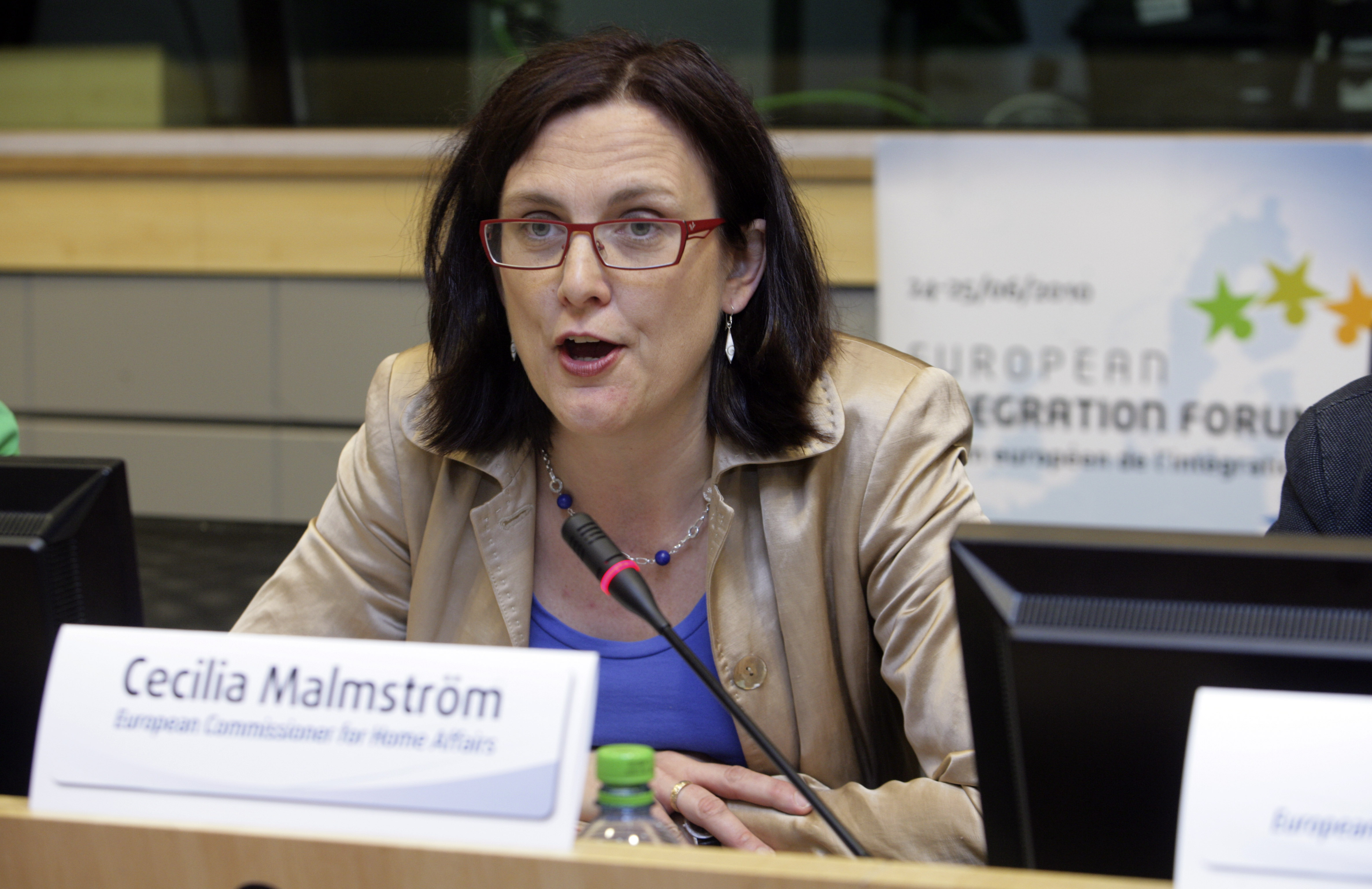 03. Cecilia Malmström, European Commissioner for Home Affairs, giving her opening speech
