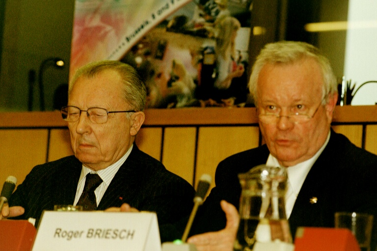 Mr Jacques DELORS, President of the Research and Policy Group Notre Europe, Mr Roger Briesch, President of the EESC