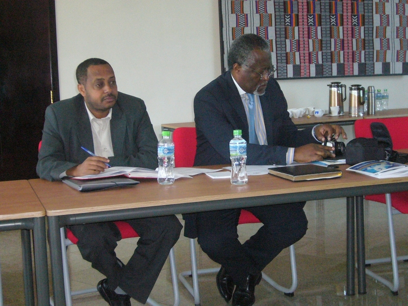 Muna et Benti bilateral meeting EESC ECOSOCC, from left to right: Mr Benti and Mr Muna
