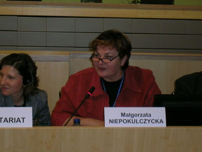 Closing session: Mrs Małgorzata NIEPOKULCZYCKA, Member of the European Economic and Social Committee, Rapporteur of the Panel III