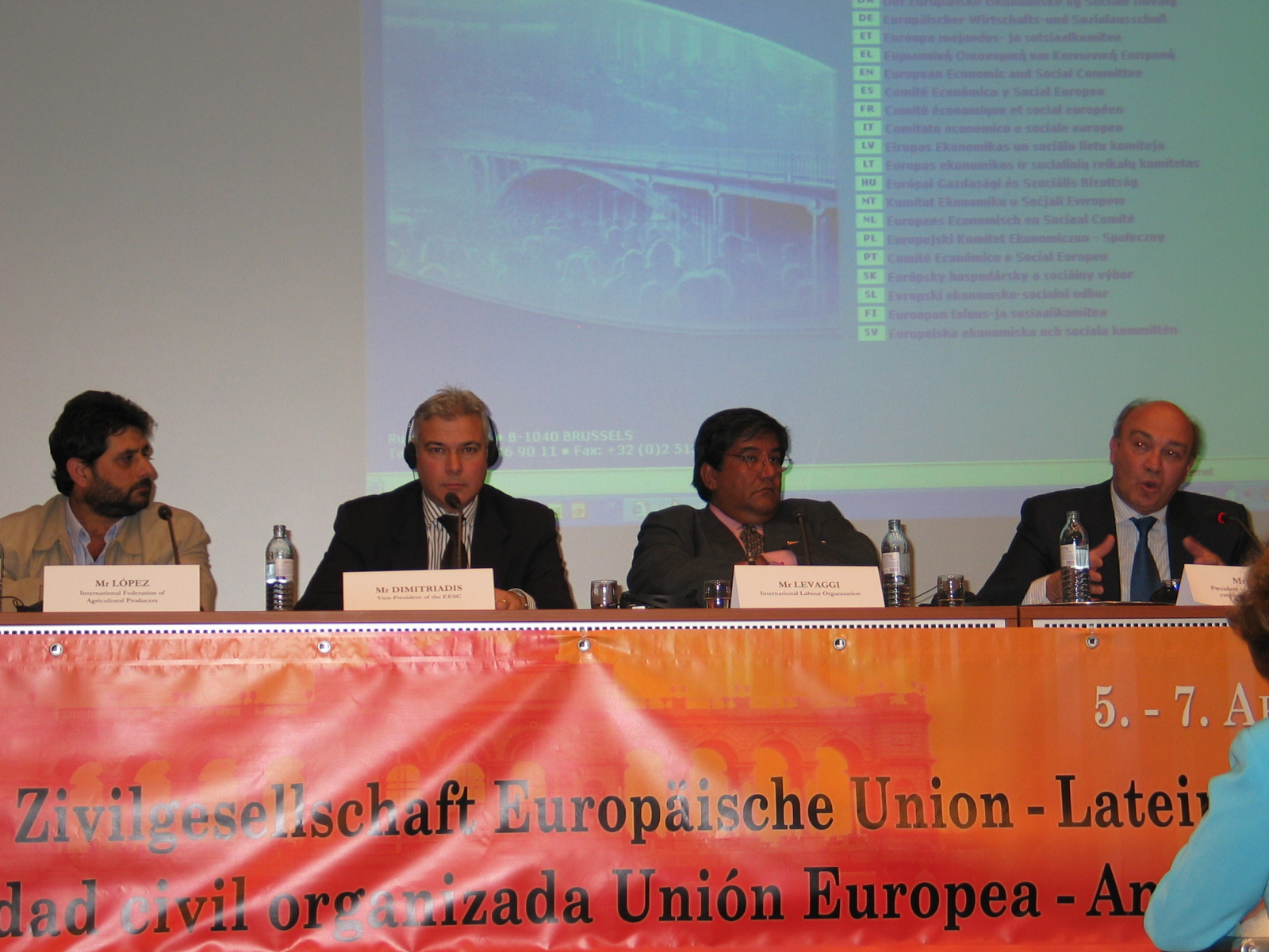 Second session : Mr. Dimitriadis, Mr. Lacasa, Mr. Levaggi, Mr. López