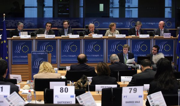 The panel of the 460th plenary session of the EESC