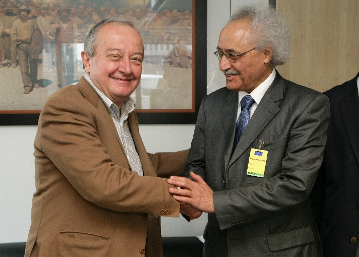 Mr Mario SEPI, President of the EESC, Mr Mohammed Seghir BABES, President ESC of Algeria