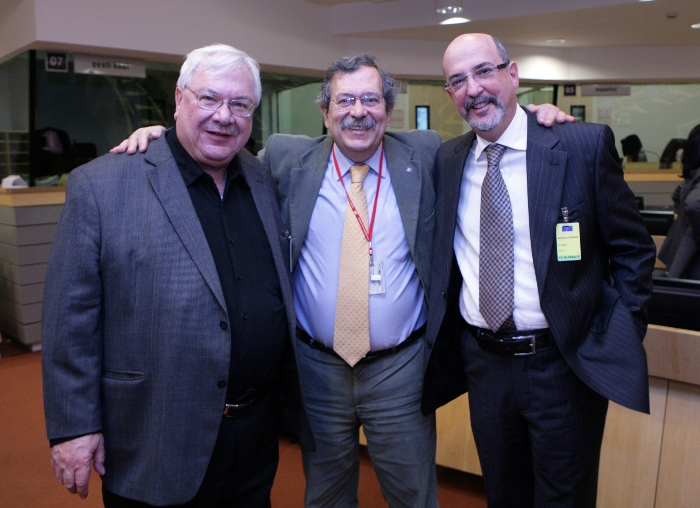 Mr Hanna SINIORA, President palestinian ESC, Mr Edgardo IOZIA, Member of the EESC, Mr Yehuda TALMON, President ESC of Israel