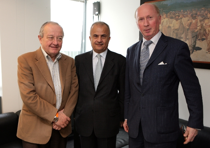 Mr Mario SEPI, President of the EESC, H.E.Mr Abdel Elah AL KHATIB, President ESC of Jordan, Mr Filip HAMRO-DROTZ, President of External Relations Section