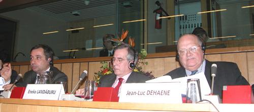Mr. Henri MALOSSE, Mr. Eneko LANDÁBURU, Mr. Jean-Luc DEHAENE