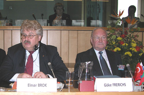 Mr Elmar BROK, Chairman of the European Parliament's Committee on Foreign Affairs, Member of the European Convention, Mr. Göke FRERICHS, Vice-President of the EESC