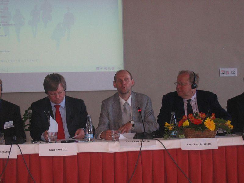M. Seppo Kallio, M. Helir Valdor Seeder and M. Hans Joachim Wilms