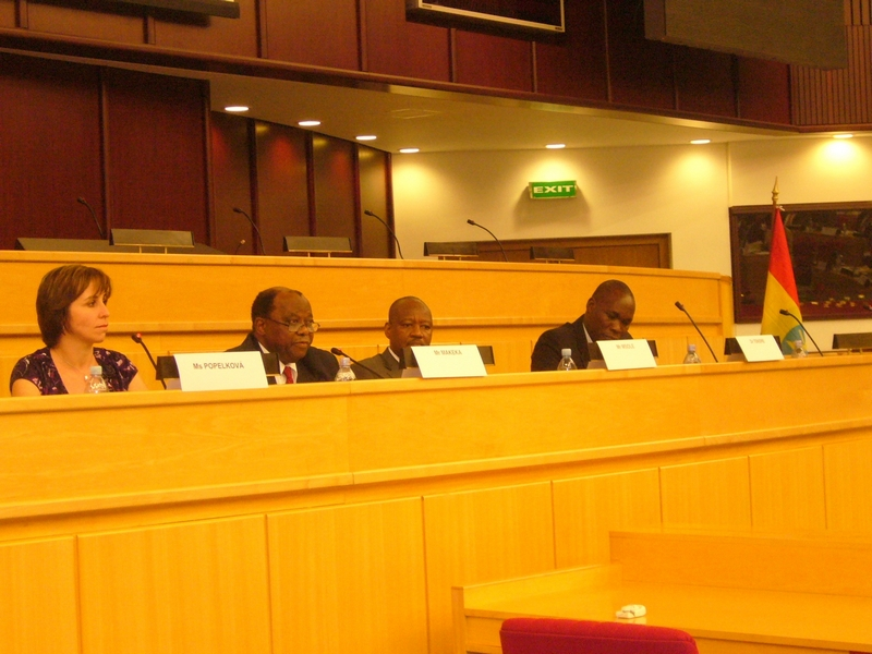 Session on EPAs Popelkova Makeka Msole Tekere, from left to right: Ms Popelkova, Mr Makeka, Mr Msole and Mr Tekere