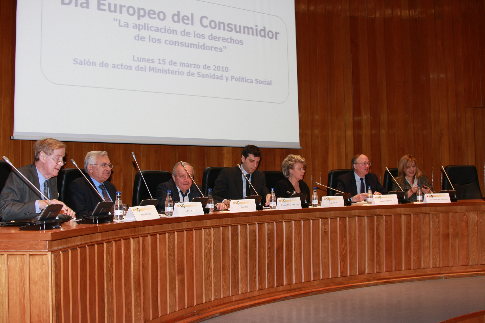 Speakers at the European Consumer Day 2010