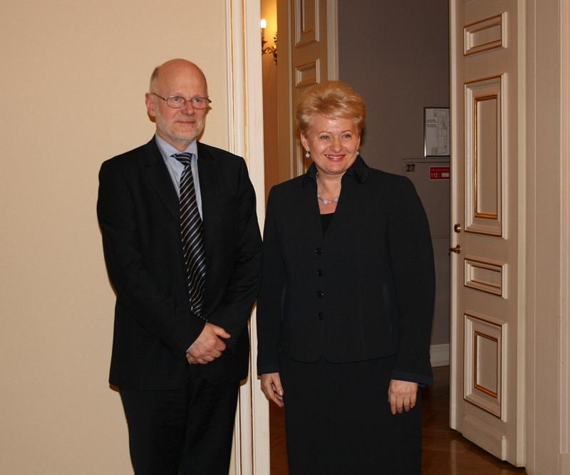 Staffan Nilsson met the President of Lithuania, Dalia Grybauskaite