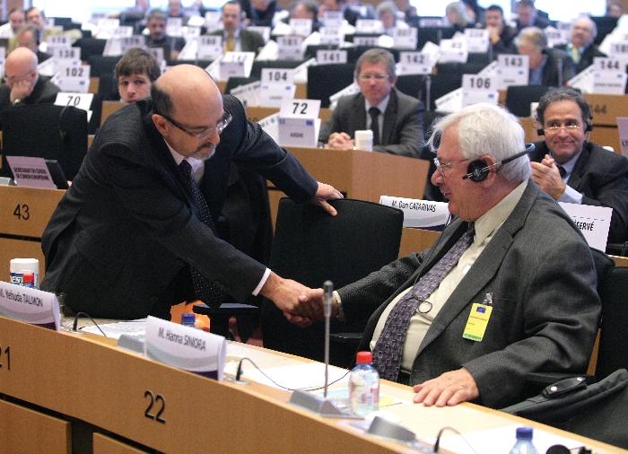 Mr Yehuda TALMON, President ESC of Israel, Mr Hanna SINIORA, President palestinian ESC