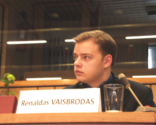 "M. Renaldas VAISBRODAS, ""EUR-OP-A"" Programme Manager (Europe, organised participation, access), Council of Lithuanian Youth Organisations"