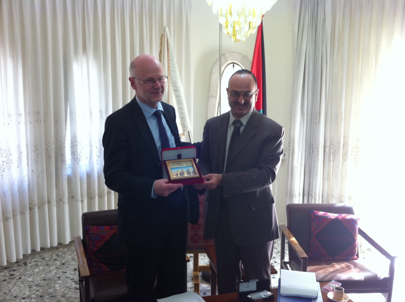 Staffan NilssonmMeeting Bethlehem deputy mayor George Saadeh
