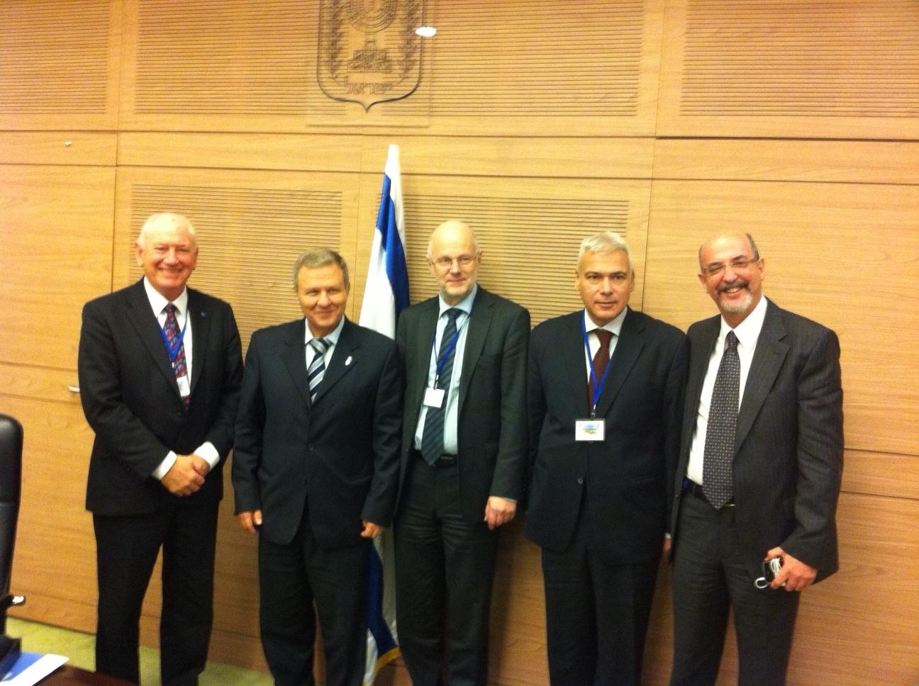 From left: Sandy Boyle, Meir Sheetrit, Staffan Nilsson, Dimitris Dimitriadis, Yehuda TALMON