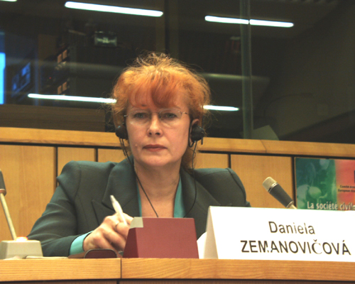 Ms Daniela ZEMANOVICOVÁ, Honorary Chairperson, Centre for Economic Development (CED) - Transparency International Slovakia