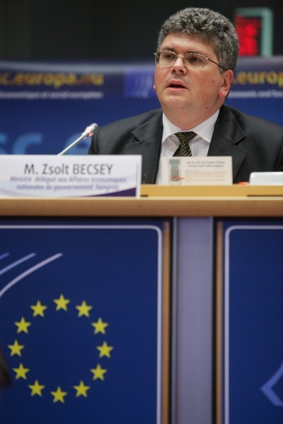 Zsolt Becsey at the EESC plenary session