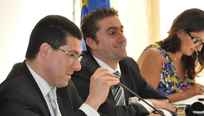 9 june 2011 - Panel I - Youth involvement in democracy - Mr Clyde Puli, Maltese Parliamentary Secretary of Youth and Sport and Mr Matthew Vella, President of the Youth National Council Malta, Ms Anna Maria Darmanin, EESC Vice President