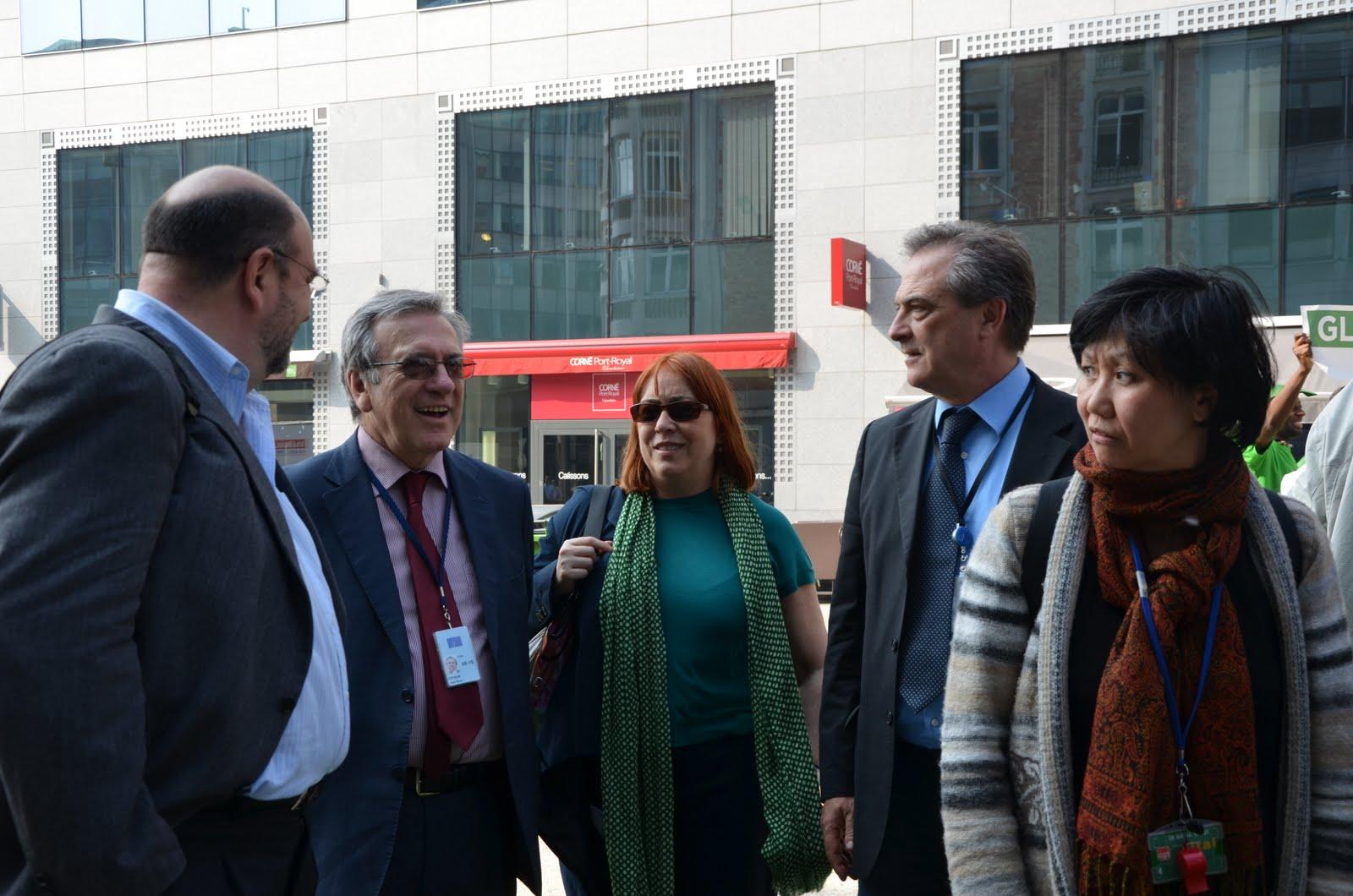 Juan Mendoza, José María Zufiaur, Isabel Caño, Giuseppe Iuliano and An Le Nouail
