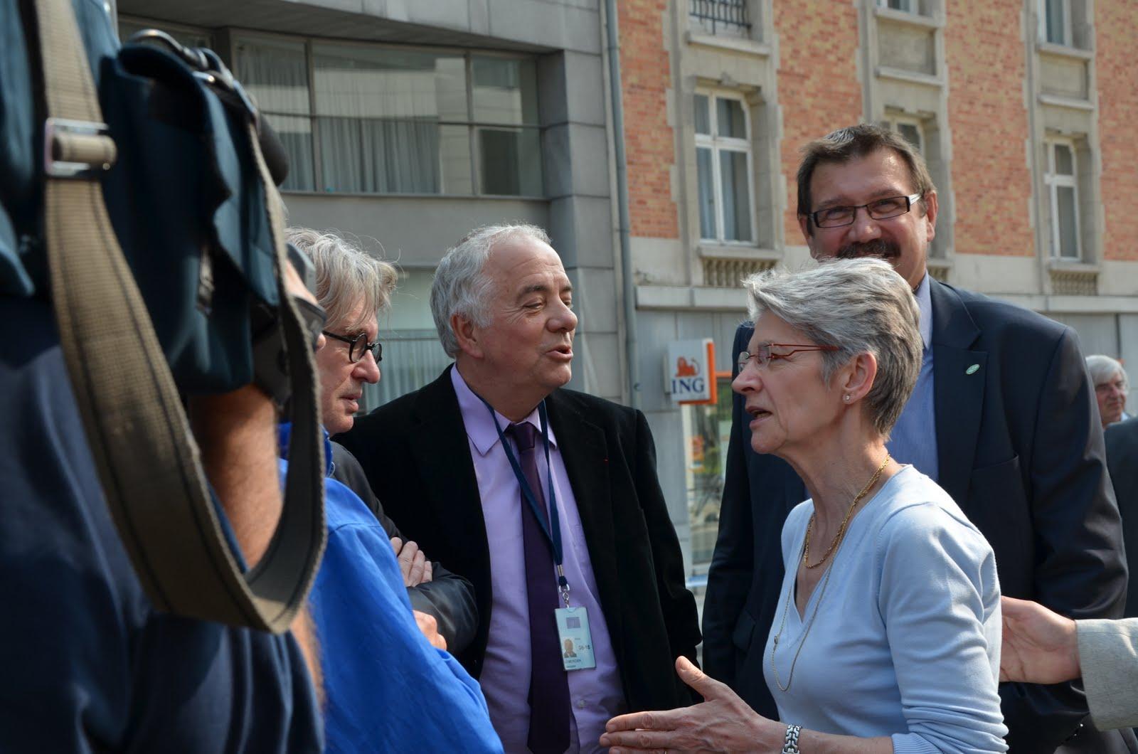 Jacques Lemercier and Claude Rolin with Bernadette Ségol, ETUC General Secretary